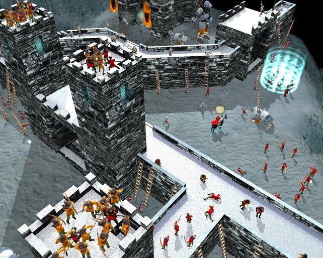 Burgen bauen, Feinde abwehren, Bürger bei Laune halten - Alltag in Stronghold.
