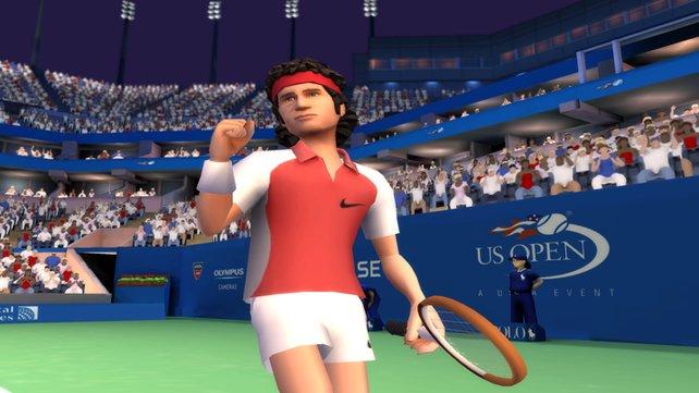 Auch Tennislegende John MC Enroe ist in das Spiel integriert worden.