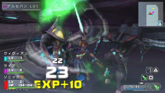 In typischer RPG-Manier schwingt ihr eure Klinge und erhaltet Erfahrungspunkte dafür.