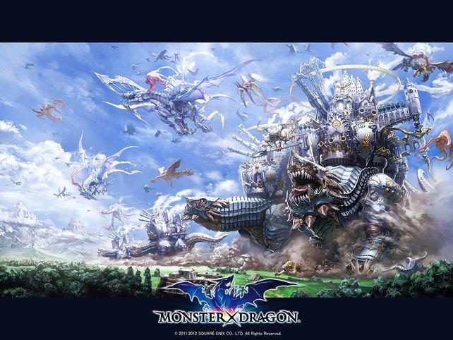 Hier seht ihr einen Bildschirmhintergrund zu Monster x Dragon.