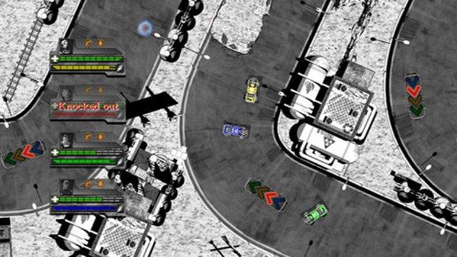 Grafisch ist Monochrome Racing nett, spielerisch eher belanglos.