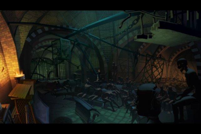 Der Untergrund voller bizarrer Schaufensterpuppen. Was hier wohl vor sich geht?