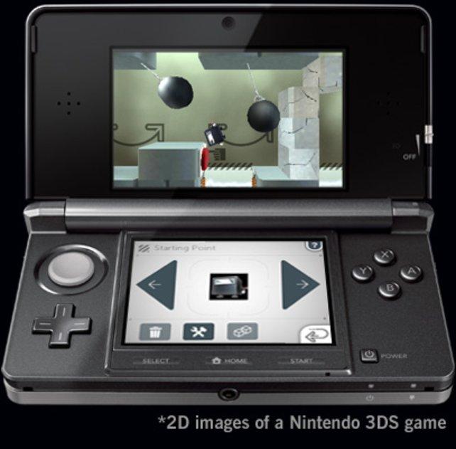 Neigt den 3DS, dann rutscht der Ninja-Würfel los. Per Touchscreen wählt ihr Spezialfähigkeiten.