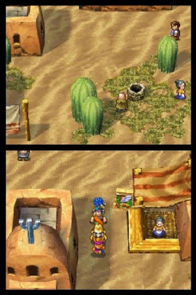 Das Spiel nutzt beide DS-Bildschirme zur Darstellung der Spielwelt.