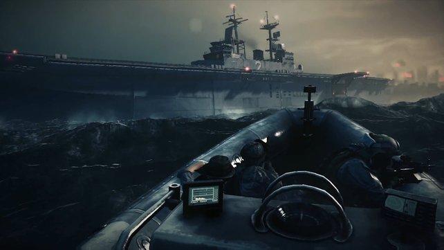 Serientypisch nutzt ihr verschiedene Vehikel - auch auf und im Meer.