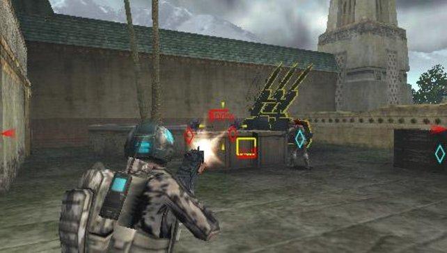 Auch die Gegner verfügen über ein beträchtliches Waffenarsenal.