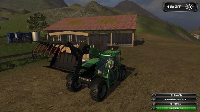Im Landwirtschafts Simulatr 2011 kommt echtes Bauern-Gefühl auf.