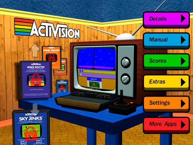 Bunt und pixelig: Spielt Klassiker des Atari 2600 auf eurem iPhone.