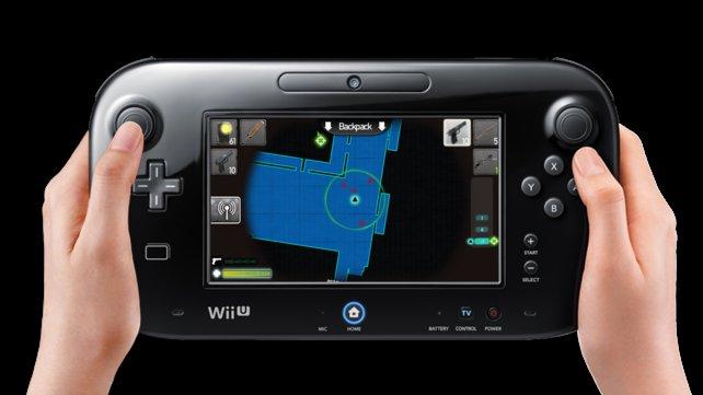 Der Bildschirm des Wii-U-Controllers dient als Karte und Inventar.