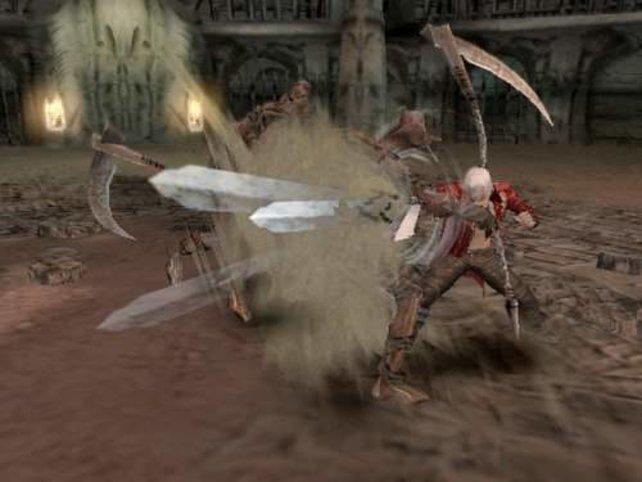 Wenns um Feinde geht ist Dante alles andere als zimperlich.