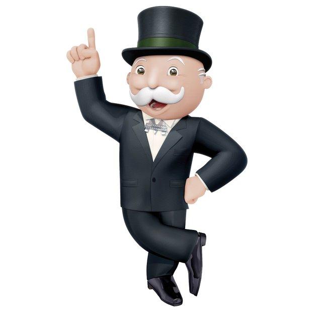 Der Monoply-Mann führt euch durch das Spiel.