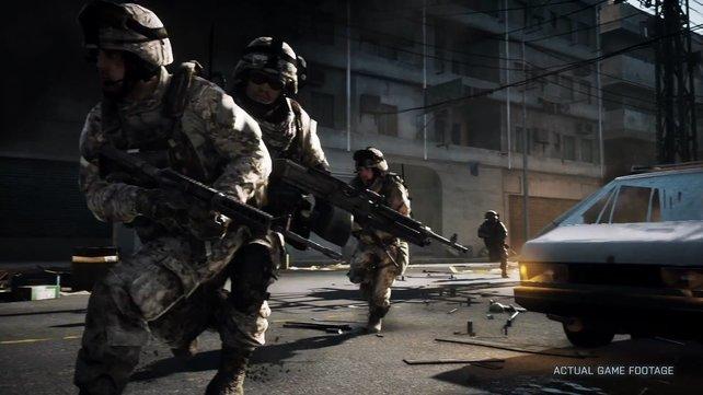 Es können maximal vier Soldaten in ein Squad.