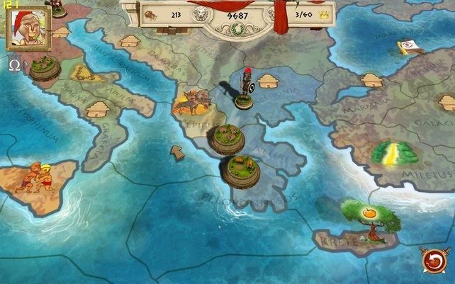 Das Spielfeld von Tiny Token Empires erinnert an Risiko.
