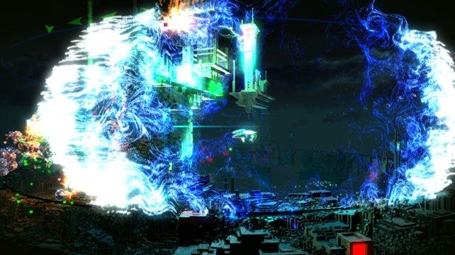 Mehr als nur Pixel. Die Explosionen in Resogun können sich sehen lassen.