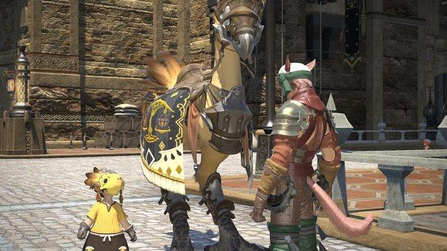 In dem Online-Rollenspiel Final Fantasy 14 - A Realm Reborn gibt es natürlich wieder Chocobos.