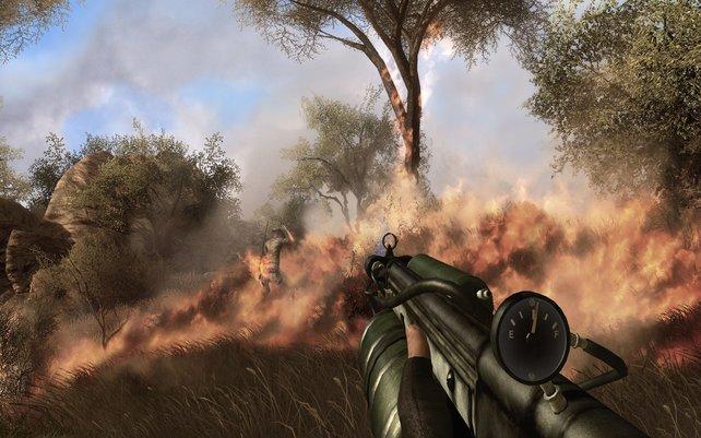Zum Sterben schön: Der Flammenwerfer ist die Waffe für Pyromanen.