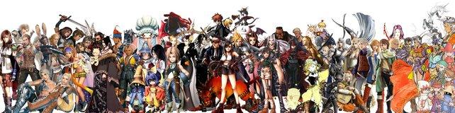 Die Final-Fantasy-Familie wächst immer weiter, wie der Spieler MiguelCar808 auf seinem Poster eindrucksvoll darstellt.