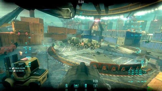 """In """"Strike Force"""" verteidigt ihr taktische Punkte mit Trupps und Robotern."""