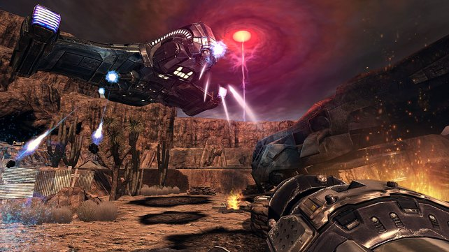 Außerirdische fliegen Raumschiffe. Auch in der Wüste um Las Vegas.