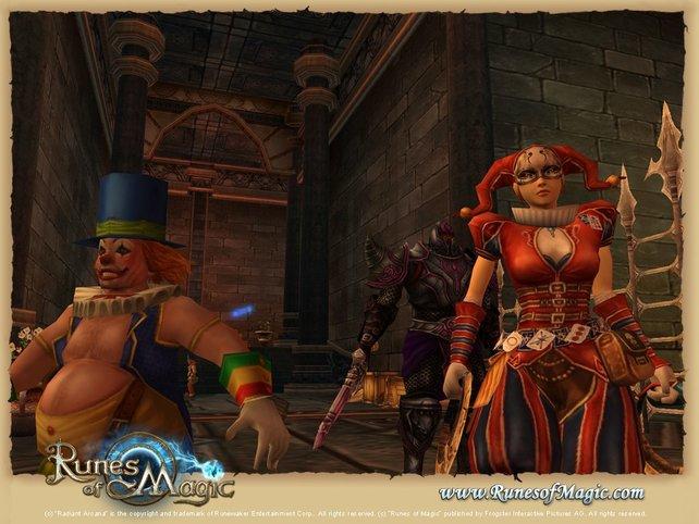 Das Spiel stellt Charaktere im Comic-Stil dar.