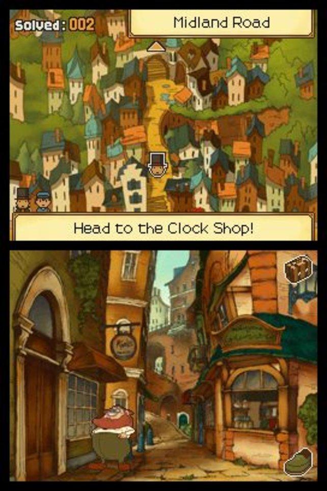 Im Uhrenladen gleich zu Beginn gerät der Professor in eine Zeitmaschine.