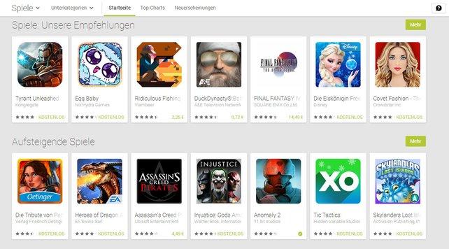 Viel Auswahl bei Google Play, aber was sind die Kracher 2013? Wir verraten's euch.
