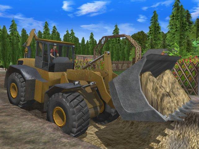 Der Bagger Simulator 2011 - damals im Sandkasten wirkte das spannender...