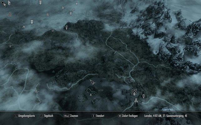 Auf der detaillierten Weltkarte seht ihr sogar Wassertexturen. Schick, schick.