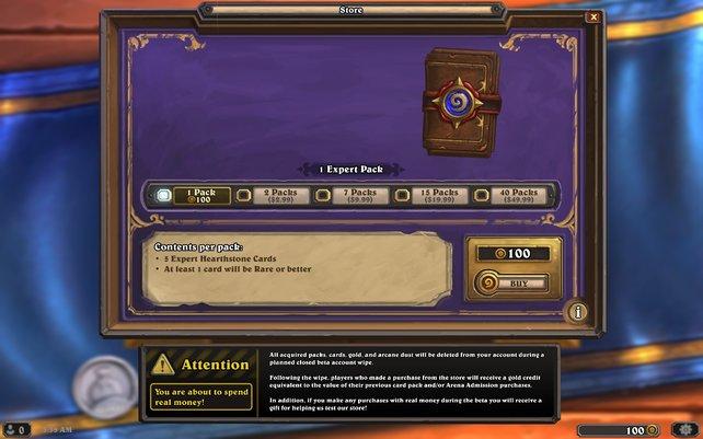 Neue Karten erhaltet ihr vor allem über den Shop - für Gold oder alternativ auch echtes Geld.