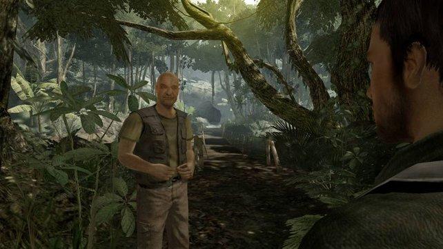 Ihr trefft Locke im Dschungel. Was der wohl wieder im Schilde führt.