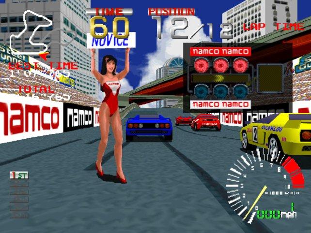 So sehen die ersten Spielsekunden von Ridge Racer aus.