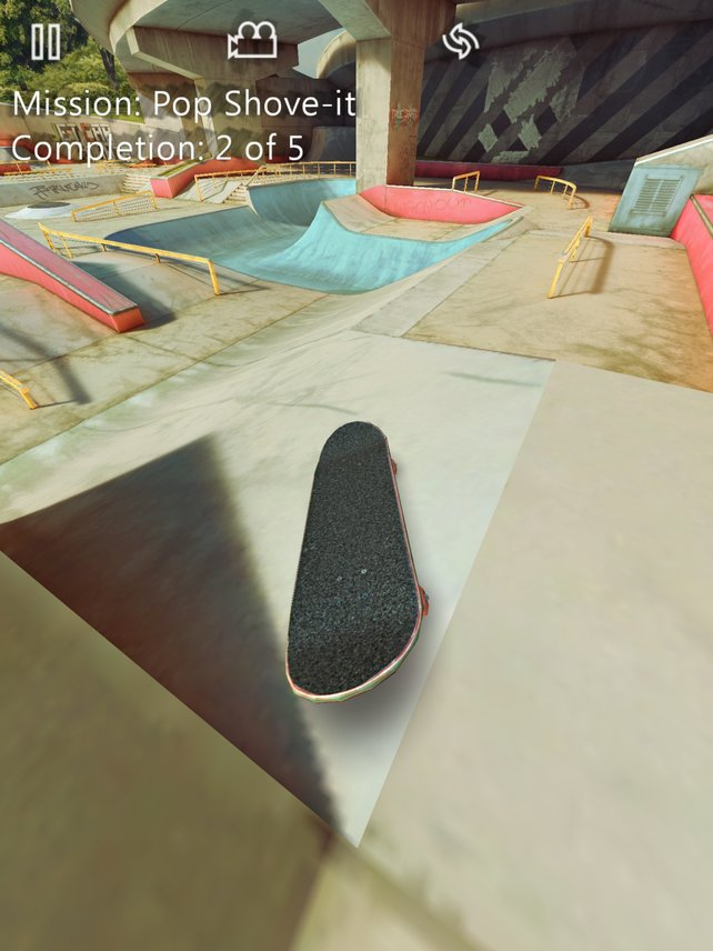 Eure Finger agieren als Füße auf dem Skateboard.