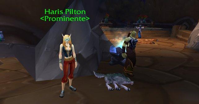 Anstatt 'Paris Hilton' steht in Shattrath die Prominente 'Haris Pilton'.