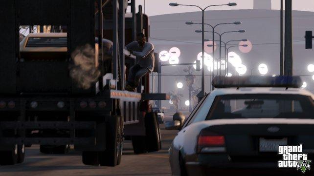 In GTA 5 verübt ihr vorwiegend dreiste Raubüberfälle.