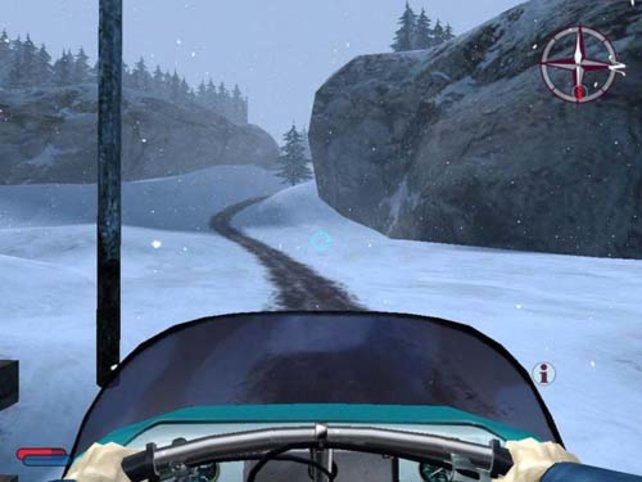 Das Fahren mit dem Schneemobil macht besonders viel Laune