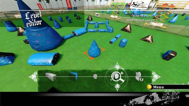 Ihr könnt sogar eigene Spielfelder entwerfen.