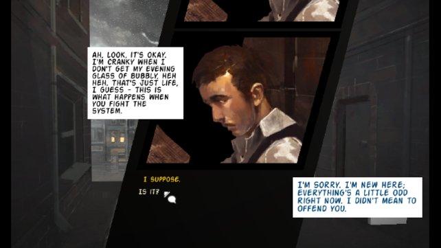 Die Präsentation von The Maker's Eden orientiert sich an modernen Comics.