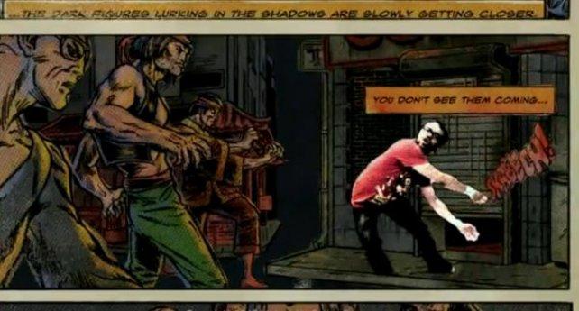Die Comic-Zwischensequenzen besitzen echtes Trash-Appeal.