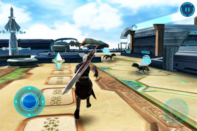 Sobald Ihr auf Feinde trefft, wechselt das Spiel in den Kampfbildschirm.