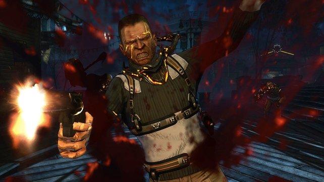 Sparsam geht The Darkness 2 mit rotem Lebenssaft nicht um.