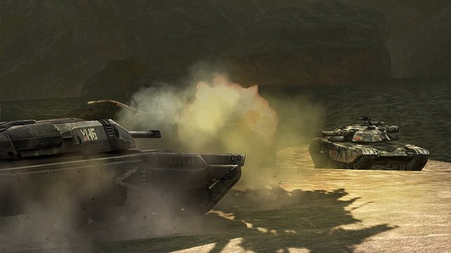 Panzerkrieg nach einem Atomeinschlag.