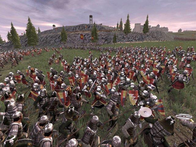 Bis zu 10.000 Einheiten pro Volk können an der Schlacht teilnehmen.