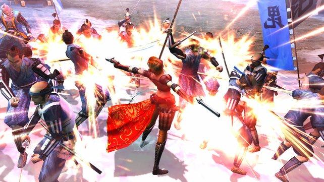 Die wilden Kämpfe wirken ein wenig wie Capcoms Antwort auf Bayonetta.