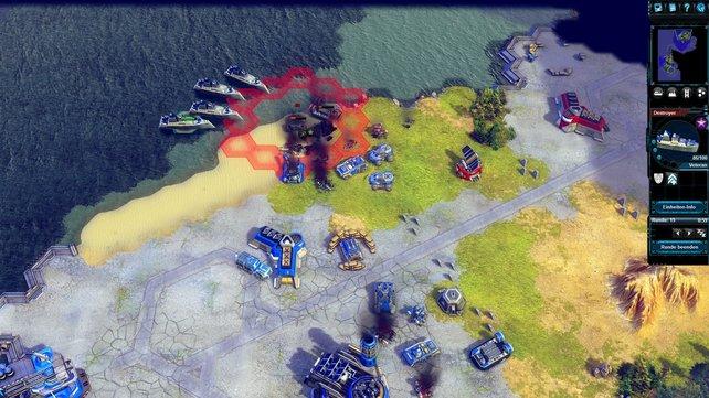 Diese Zerstörer eignen sich hervorragend für einen Küsten-Angriff.