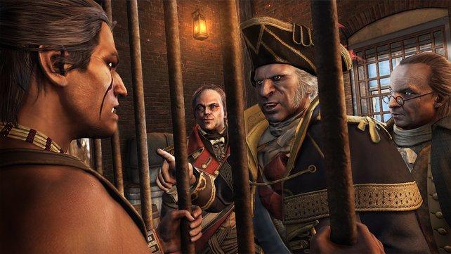 Washington besucht Ratohnhaké:ton im Gefängnis. Nett, oder?