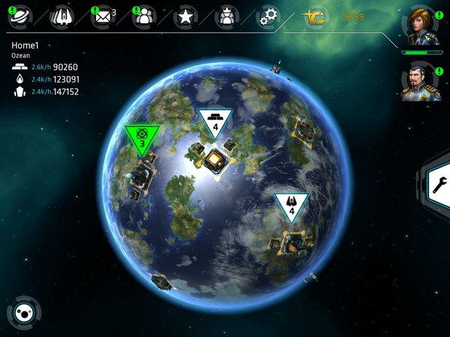 Errichtet Fabriken auf euren eroberten Planeten, um eure Flotte zu vergrößern.