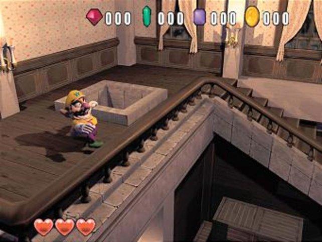 In Wario World für Gamecube modellieren die Entwickler den Helden endlich realitätsnah.