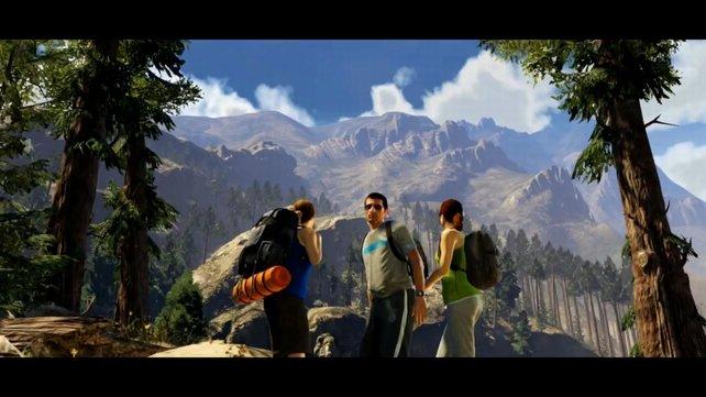 Ihr seht wahrscheinlich den riesigen Mount Chilliad.