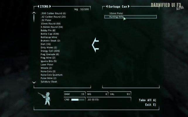Sollte bei jeder Fallout-3-Installation dabei sein: Darnified UI.