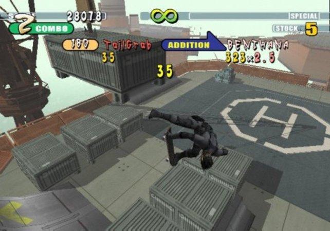 Mit Solid Snake die Halfpipe runterfahren